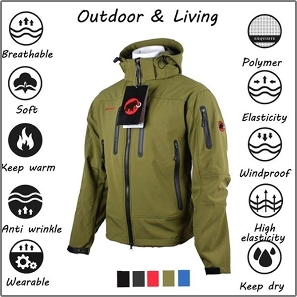 hooded, Winter, softshelljacket, man jacket