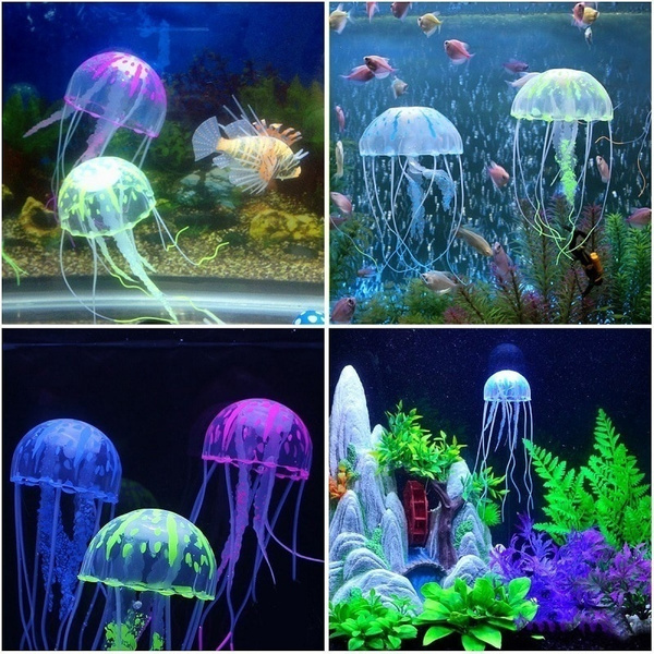 glowingartificialjellyfish, Tank, colorfulsiliconejellyfish, fish