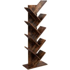 brown, Shelf, Storage, Tree
