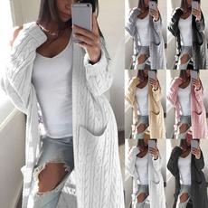 Fashion, sweater coat, Long Sleeve, Pocket