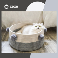 Pet Bed, Pets, linencottonballsocket, Dogs