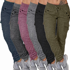 drawstringpant, Women Pants, elastic waist, sport pants