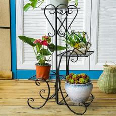 plantpotsindoor, flowerrack, metalshelve, Metal