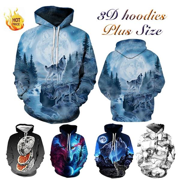 Couple Hoodies, 3D hoodies, Plus Size, unisex clothing