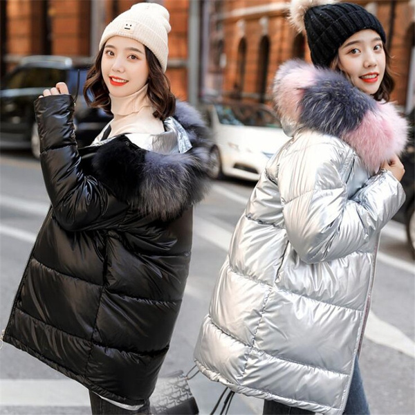 Down Jacket, Winter Coat Women, fur, Winter