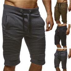 Shorts, Waist, Jogger, Pleated