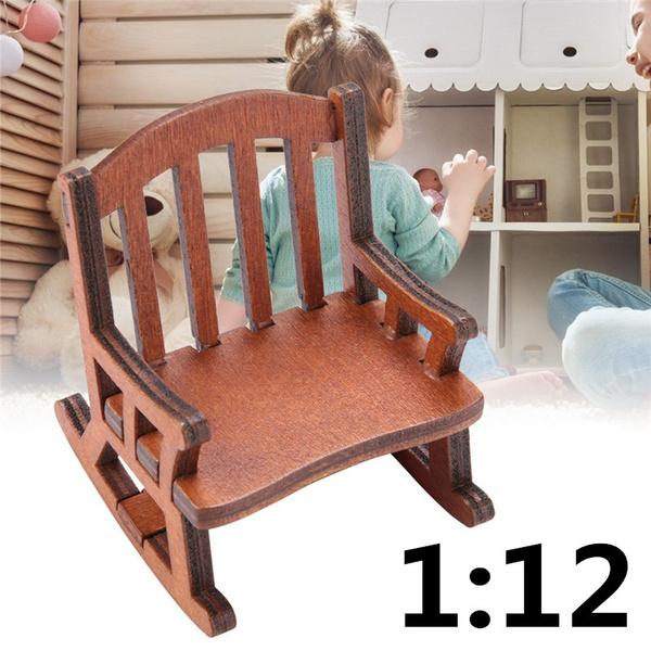 Decor, dollhousefurniture, rockingchair, Wooden