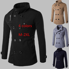 Winter, mens tops, woollenovercoat, winter fashion