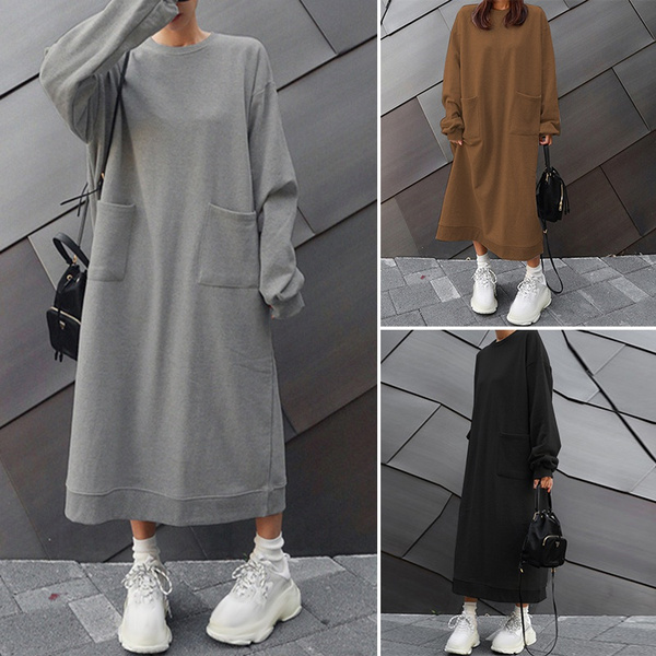 dressesforwomen, hooded, Winter, solidcolordres
