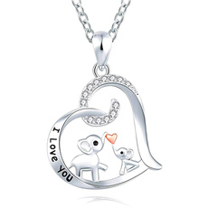 Heart, chainnecklaceformen, Love, cutenecklace