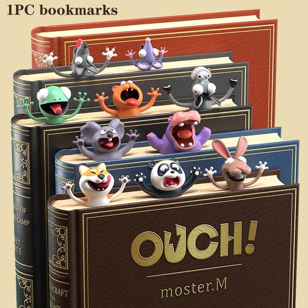 Hai Shiba Inu Ocean-Serie lustige PVC kreative Schulbedarf 3D-Lesezeichen Cartoon-Tier-Stil Buchmarker