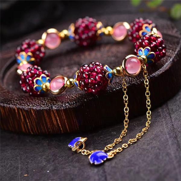 Crystal Bracelet, Jewelry, garnet, Bracelet