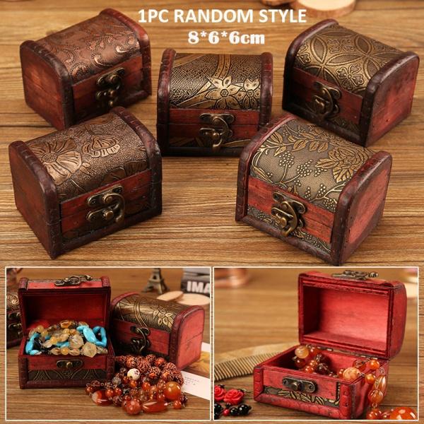 Antique, Box, woodenjewelrychest, treasurestoragebox