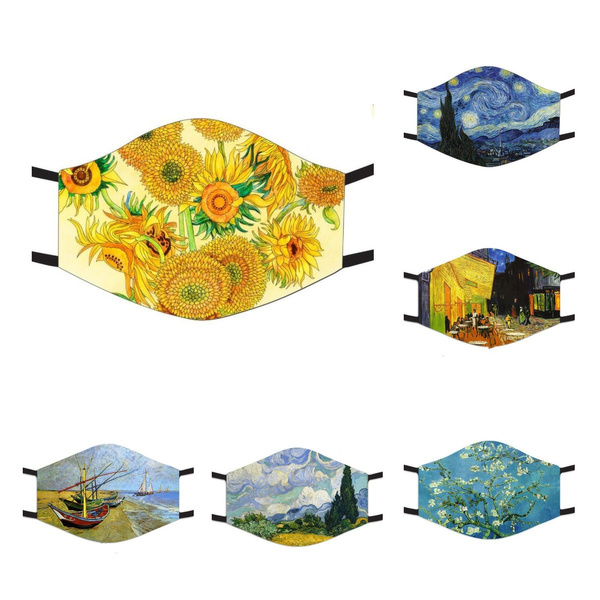 mouthmask, Sunflowers, unisex, Steampunk