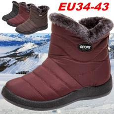 Plus Size, Winter, Waterproof, short boots