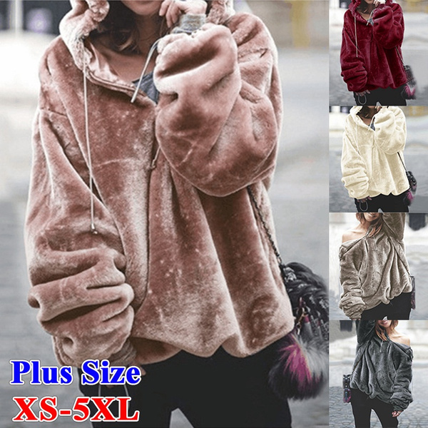 Plush, hooded sweater, hooded, Sleeve