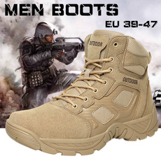shoes men, Outdoor, Leather Boots, Hiking