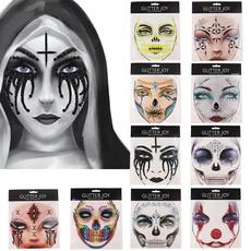 art, facesticker, Cosplay, skull