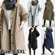 Casual Jackets, Plus Size, Outdoor, Waterproof