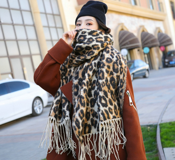 brown, Tassels, women scarf, Winter