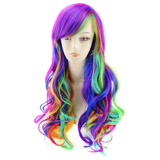 wig, rainbow, agptek, Full