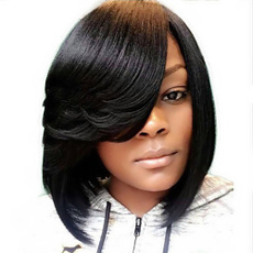 Synthetic, wig, Cut, Natural