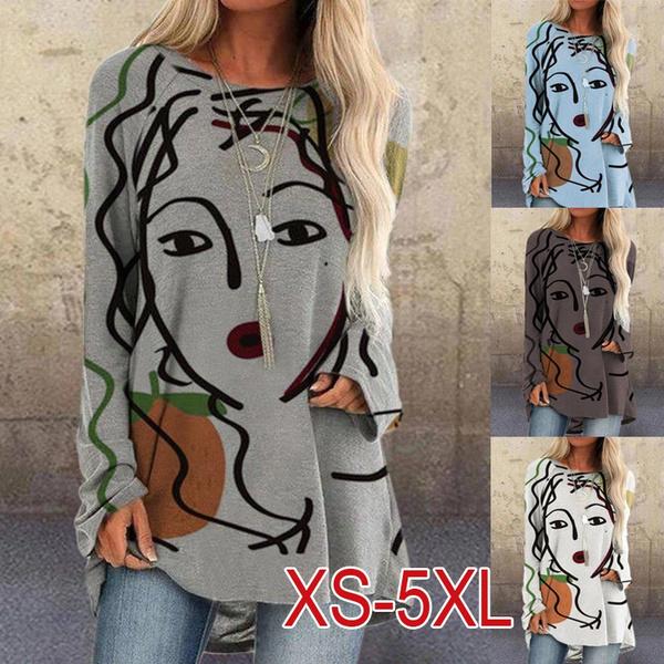 Gray, Plus Size, Shirt, Women Blouse
