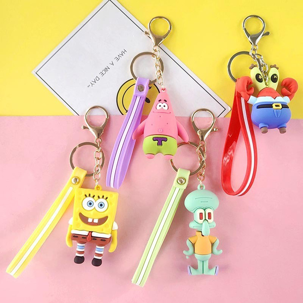 Fashion, Key Chain, Chain, Sponge Bob
