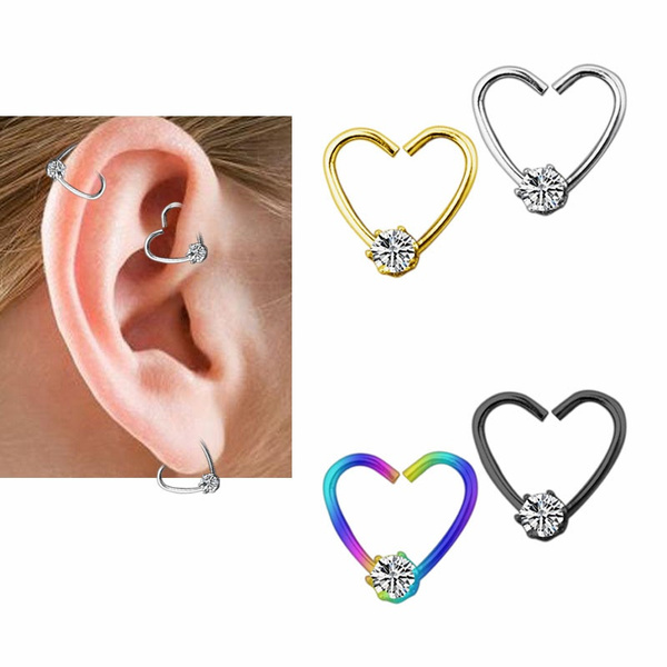 Heart, Fashion, punk earring, Colorful