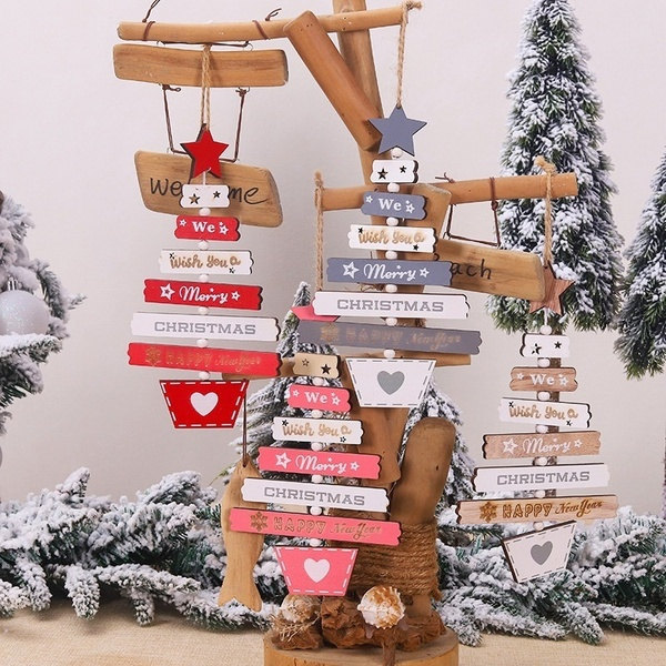 christmastreependant, Jewelry, Colorful, Wooden