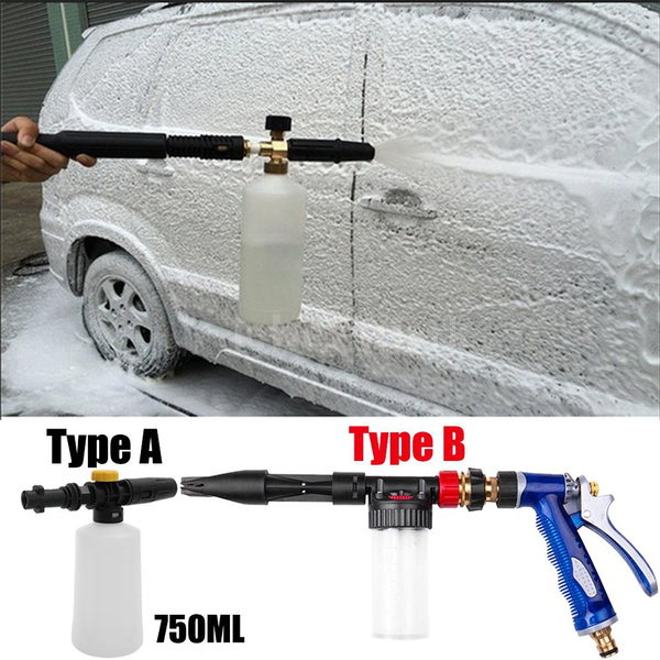 3//8 Quick Connect Adjustable Soap Chemical Syringe for Car Washing Machine LQKYWNA High Pressure Washer Injector with Foam Nozzle