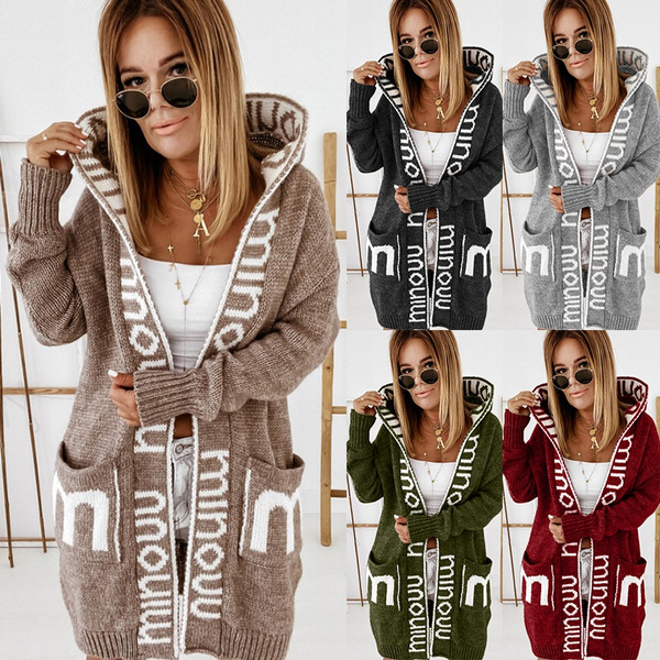 Plus Size, hooded, sweatercardigan, knittop