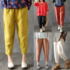 Plus Size, Casual pants, pants, looselarge