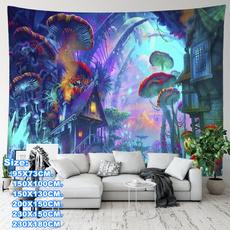 art, Wall Art, Mushroom, hangingtapestry