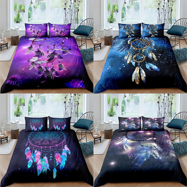 featherbeddingset, purple, Bedding, Dreamcatcher
