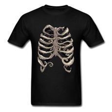 Fashion, Skeleton, Men, Tee
