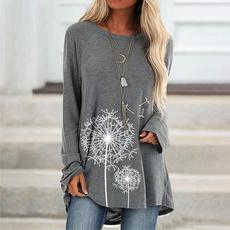 Plus Size, Cotton T Shirt, Long Sleeve, Plus size top