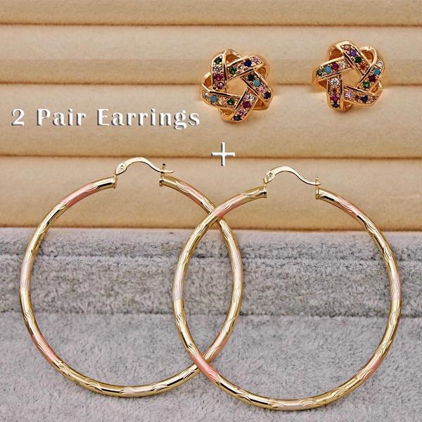 Hoop Earring, Star, Jewelry, gold