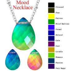 Jewelry, moodnecklace, emotionnecklace, temperaturecontrolcolor