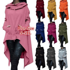 Plus Size, Sleeve, winter coat, Women Hoodie