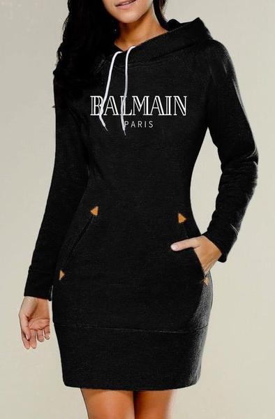 Mini, hooded, sweater dress, pullover hoodie