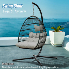hangingchair, softpaddedmat, hammockchair, lights
