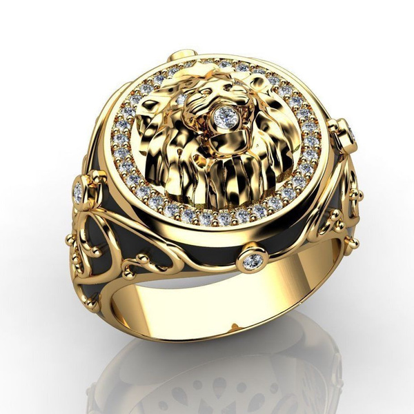 Head, Engagement, gold, punk rings