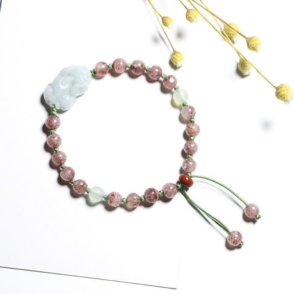 pink, Crystal Bracelet, Beaded, Jewelry