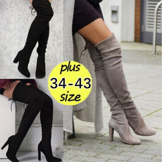 Knee High Boots, Plus Size, Womens Shoes, long boots