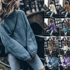 Fashion, Winter, Hollow-out, Long Sleeve