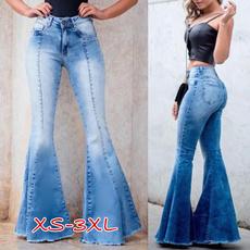 Slim Fit, Waist, high waist jeans, flaredpant