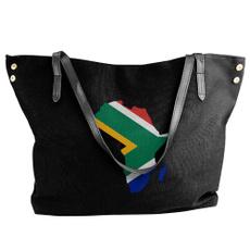 Shoulder Bags, School, Canvas, Tote Bag
