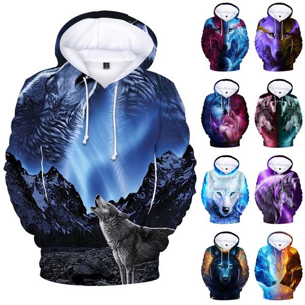 3D hoodies, coolhoodie, wolfhoodie, boyshoodie