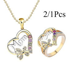 butterfly, goldplated, DIAMOND, women39sfashion